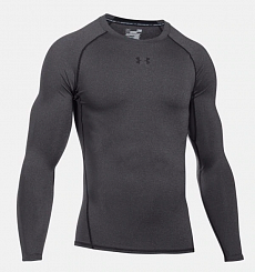 Футболка Men's UA HeatGear® Armour Long Sleeve Compression Shirt, carbon
